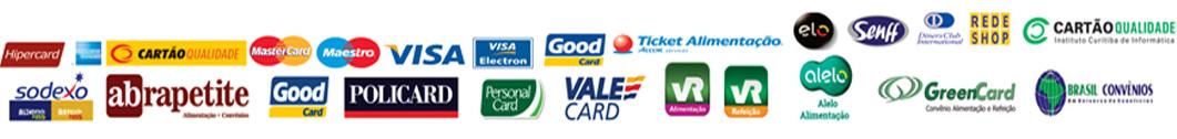 Imagem das formas de pagamento aceitas